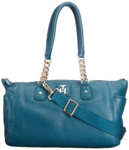 Tommy Hilfiger INES DUFFLE - Bolso de mano de cuero mujer azul - Teal