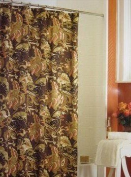 Amazon Wamsutta Rainey Paisley Toile Fabric Shower Curtain Fall