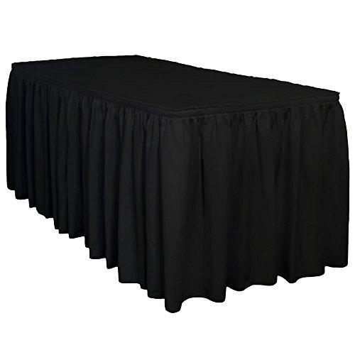 13 Ft. Premium Wrinkle Release Shirred Pleat Table Skirt by TableLinensforLess (Black) ()