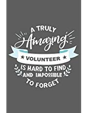 Volunteer Gift: Blank Lined Notebook. Perfect present for awesome volunteers.