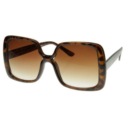 zeroUV - Womens Oversized Large Bold Square Fashion Sunglasses - Oversized Fashion Sunglasses