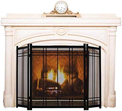 YYR ヘビーデューティメタル暖炉スクリーン、ソリッドベビー安全な暖炉フェンス、ブラックセキュリティ安全パネルガードカバー70×30×82センチメートル