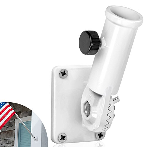 Anley [Multi-Position Flag Pole Mounting Bracket with Hardwares - Made of Aluminum - Strong and Rust Free - 1