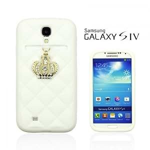 OnlineBestDigital - Crown Style Soft Silicone Case for Samsung Galaxy S4 IV I9500 / I9505 - White
