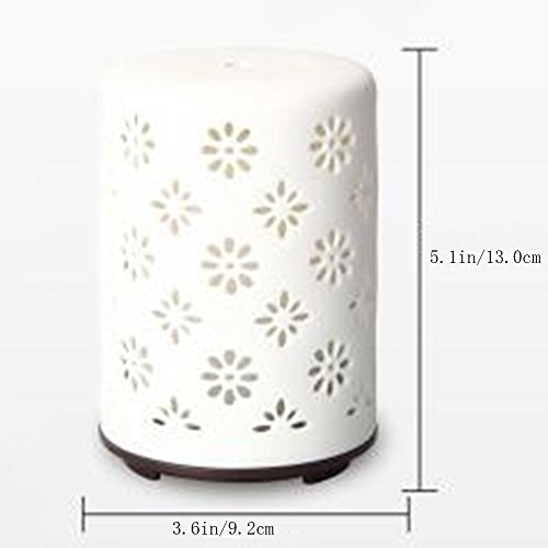 Humidifiers 60ml Ultrasonic Air Ceramic Energy-saving Simple Home Mini Portable Environmental Aromatherapy, White by Humidifiers