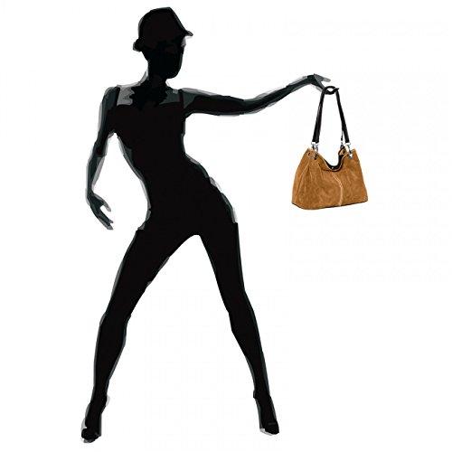 Fabriqué Italie Pour Main Vrai Sac À Femme Coloris En Tl621 Plusieurs Cognac Caspar Daim wHv1qzv