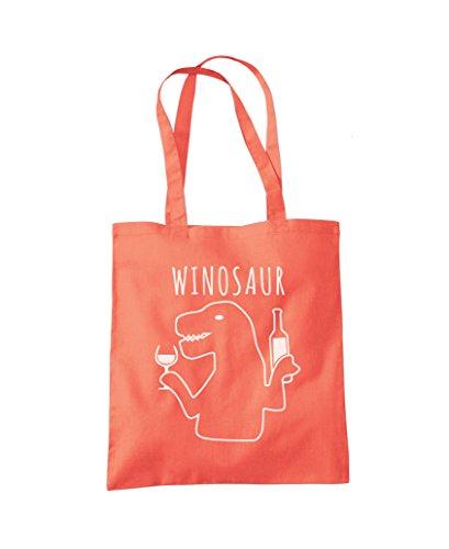 Bag WinoSaur Fashion Shopper Tote Coral Shopper Bag WinoSaur Tote Fashion HqxdIwHf