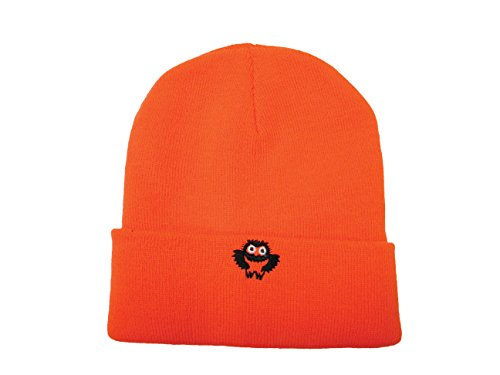 Safety Depot High Visibility Knitted Cap (Beanie) with Owl Logo (Orange Logo Beanie)