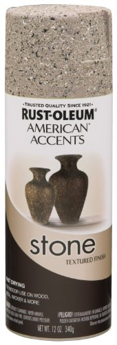 Rust-Oleum 7995830 Stone Creations Spray, Pebble, 12-Ounce Rust Oleum Stone Finish