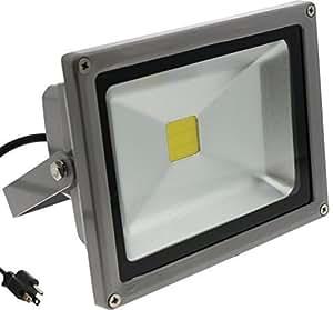 Techno Earth F10K 90-240V 120-Degree Beam Angle Landscape Outdoor Waterproof 10W LED Flood Light Lamp, Cool White by Technoline