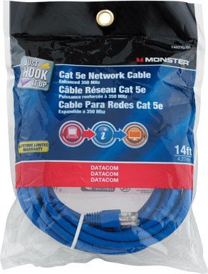 CABLE CAT-5E 14' BLUE by MONSTER JHIU MfrPartNo 140270-00