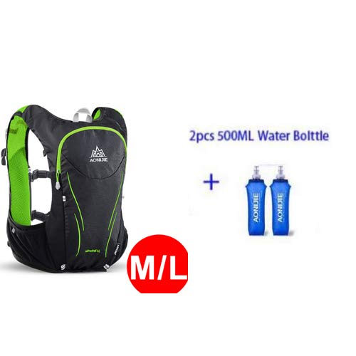 POJNGSN 5L Outdoor Sports Backpack Women/Men Hydration Vest Pack for Exchange Cycling Hiking Running Water Bag ML and Bottles