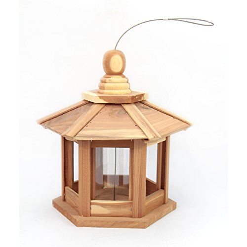 Worth Garden Cedar Feeder?Deluxe Chalet with Hexagonal Roof Design (Chalet Roof)