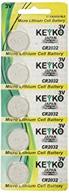 CR2032 3 Volt Lithium Battery Type 2032 / DL2032 / ECR2032 Genuine KEYKO ® Replacement KT-CR2032- 5 pcs Pack (1 Blister)