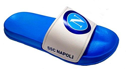 Bianco Ufficiale S19085 Mod Napoli Ssc Ciabatte Fascione Uomo 0R5v4x