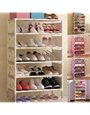 DORLIONA r Storag Home Shelf Color:Random Rage Clos Space Saving Spac Durable Shoes Rack torage C Tier Storage e Shoes Closet Organizer Shoes Ra