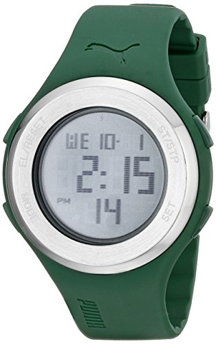 PUMA Men's PU910981005 Drop Steel Green LCD - Puma Watch Green
