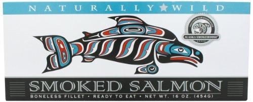 Alaska Smokehouse Smoked Salmon Duo in Foil Original, Sockeye, 32 Ounce (Hot Smoked Salmon)