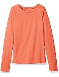 Girls' Long-Sleeve Basic Crew-Neck T-Shirt