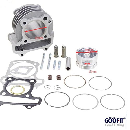 (GOOFIT Performance Big Bore Cylinder Kit GY6 80cc 47mm for 139QMB ATV Scooter Moped Go Kart )