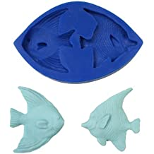 ANGELFISH FISH UNDER THE SEA SILICONE MOLD FOR FONDANT, GUM PASTE, CHOCOLATE, HARD CANDY, FIMO, CLAY, SOAPS