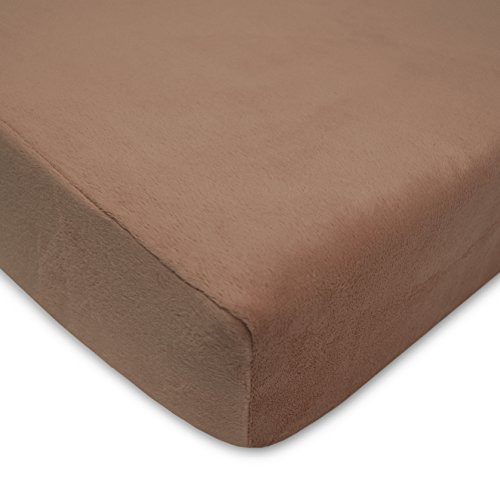 American Baby Company Heavenly Soft Chenille Fitted Crib Sheet for Standard Crib and Toddler Mattresses, Chocolate Chamois Chenille