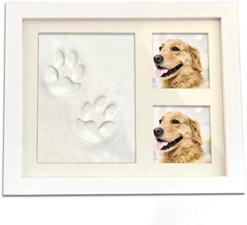 JVSISM Kit de Recuerdo para Mascotas y Estuche de Imagen: Marco de Fotos de Madera de Primera Calidad, Molde de Arcilla para Huella: Amazon.es: Productos para mascotas