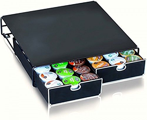 Decobros Kcup Storage 2 Drawers Holder For Keurig Kcup Coffee Pods; New