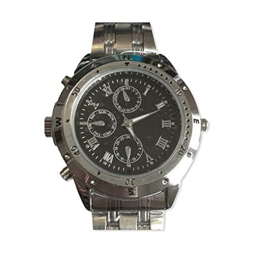 Reloj con cámara espía espionne en cifras romano, memoria de 4 GB: Amazon.es: Ropa y accesorios