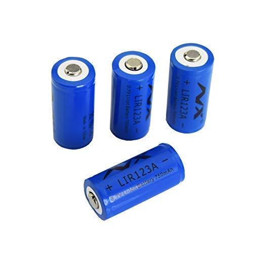 充電式バッテリー LIR123A NX 3.7V 700mAh LIR123A 保護充電式リチウムイオンバッテリー Arloセキュリティカメラ用 (VMC3030/VMK3200/VMS3330/3430/3530) 4個パック B07KQTL4FV