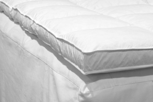 Down Etc Twin 39-Inch by 75-Inch Down Feather Bed, White
