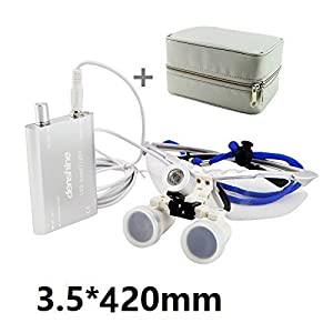 Dental Surgical Medical Binocular Loupes 3.5X420mm