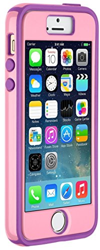 Speck Products iPhone SE/5/5s CandyShell + FACEPLATE Case - Carnation Pink/Revolution Purple