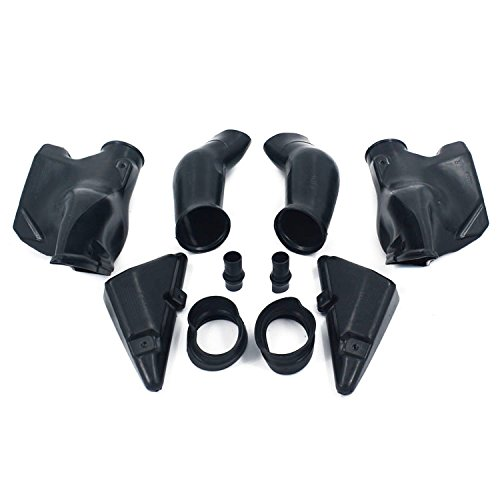 Fast Pro Motorcycle Black Left Right Ram Air Intake Tube Duct For CBR600RR F5 05-06: