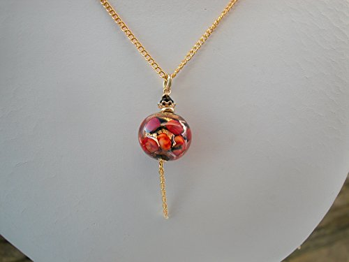 Murano Romantic Glass Necklace ON 14k Gold Fill (14k Gold Murano Glass)