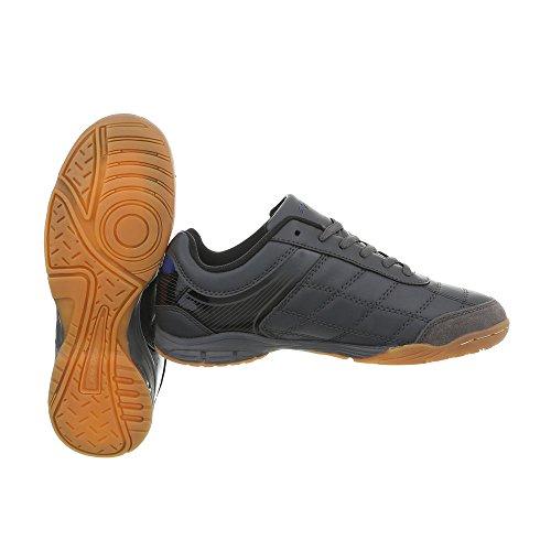 Damenschuhe Freizeitschuhe Design 1 Herrenschuhe Sportschuhe Grau Unisex Ital S1986C Low Sneakers Top HUOHpf