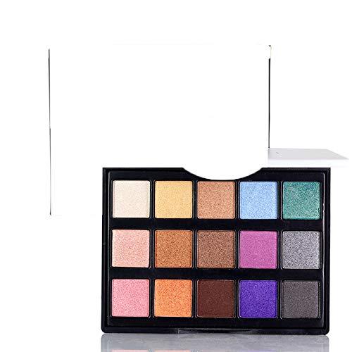 15 Colors Nude Eyeshadow Palette Professional Eye Makeup Smokey Eye Shadow Kit Shimmer Natural Eye Shadow Color2 -