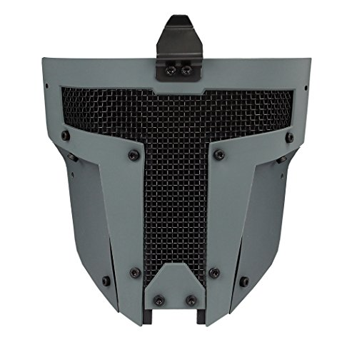 - IDOGEAR Airsoft Full Face Mask Tactical SPT Mesh Mask Fit for Fast Helmet Duty Face Protection (C: Wolf Gray)