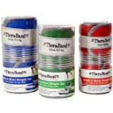 Thera-Band Comfort Fit Ankle/Wrist Cuff Weight Sets - Sold in Pairs-3lb-(two 1.5 lb cuffs)Green