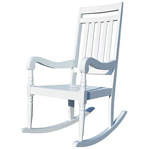 Carolina Chair Wood - Carolina Chair & Table JR1101 WHT Belmont Slat Rocker, White
