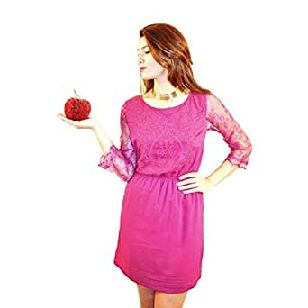Hipster Ftd2lm-l Night Out Dress For Women - L, Magenta