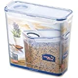 Lock & Lock Rectangular Storage Container with Flip-Top Lid, 3.4 L - Clear/Blue