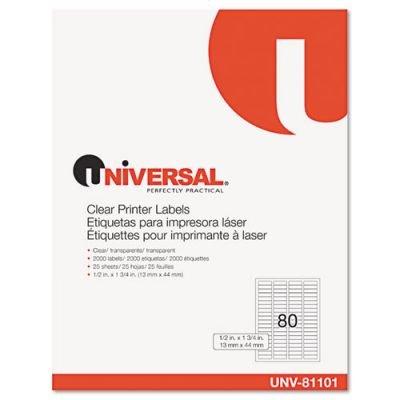 Amazon.com : Universal Laser Printer Permanent Labels, 1/2 x ...