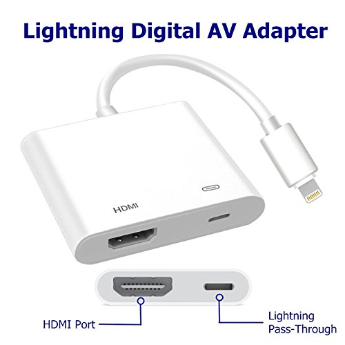 AV Digital Adapter for Lightning to HDMI For iPad-air-iphone 6 6S 7 7Plus