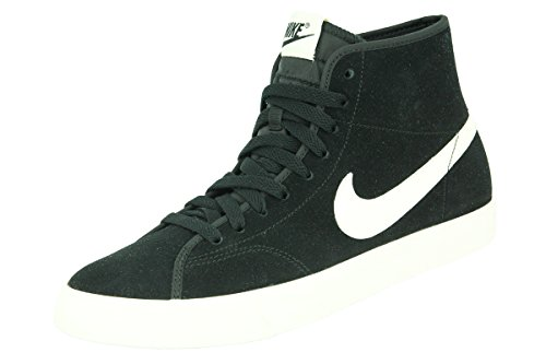 Nike PRIMO COURT MID LEATHER Chaussures Sneakers Homme Cuir Suede Noir Blanc NIKE