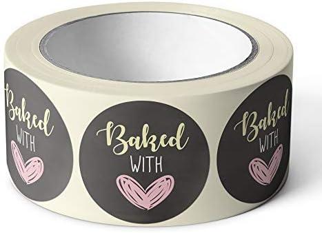 Pegatinas Kraft hecho a mano para el hogar hornear sellos de Embalaje de Regalo Artesanía presenta
