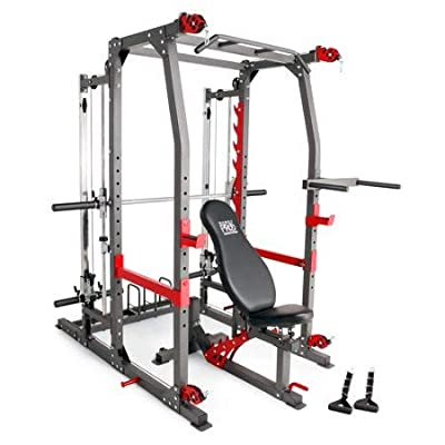 Kinelo Marcy Pro Smith Machine Weight Bench Home Gym Total Body Workout Training System