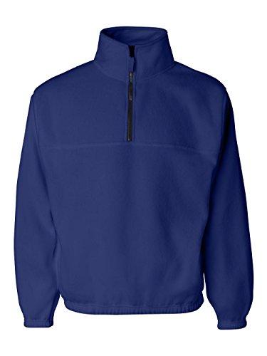 Sierra Pacific Adult Anti-Pill Fleece Quarter-Zip Pullover (Royal) (Anti Pill Fleece Pullover)