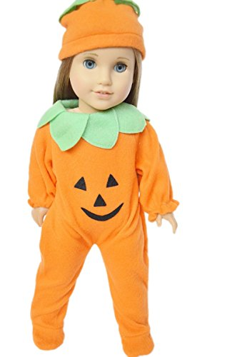 Halloween Pumpkin Costume for American Girl Dolls or Bitty Twins ,Bitty Baby (Twin Girl Costumes)