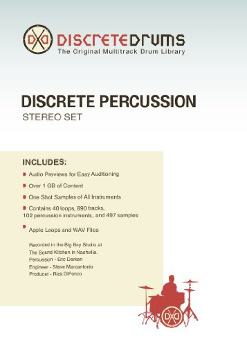 Sonoma Wire Works DDDPSTEREO Discrete Drums Discrete Percussion Stereo - Ethnic Drum Samples
